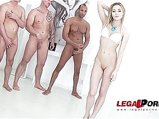Olivia Devine ultra hardcore anal gangbang with 8 swallows.