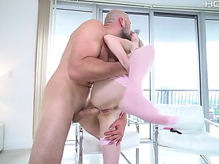 Jane wilde getting fucked into ass standing by jmac