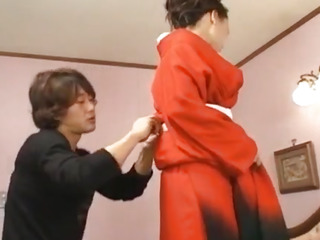 Beautiful Eriaa Himesaki takes out her red kimono for a hardcore fuck