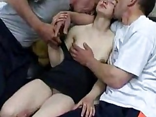 Hardcore Old Young DP Gangbang With Hot Teen