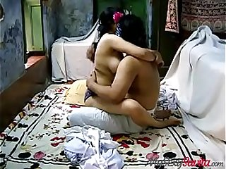 Indian Aunty Savita Acting As Young College Girl Fucked By Her Lover In White Shalwar Suit