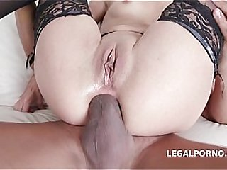 4 on1 Interracial with Roxy Dee - Airtight,  Asshole destruction and Throat Fuck
