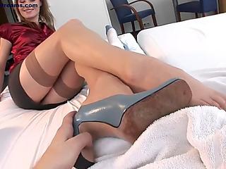 Erotic feet threateningfearsome footjob pt 17 a