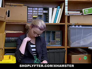 Shoplyfter fearsomemenacing shoplifting legal age teenager complies with security officer