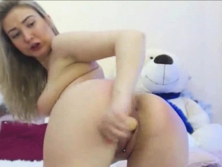 Big Ass Russian Teen with Funky Voice