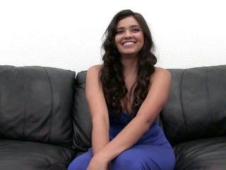 Beautiful 19 yo brunette gets ass fucked on Casting Couch