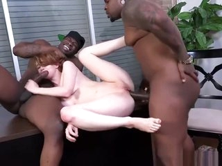 white bitch fucked by big black guys hard