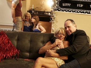 Ariel Mcgwire & Emma Hix in New Years Family Fuck - NUBILESPorn