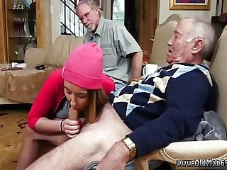 Old man fuck girl and old couple young guy Maximas Errectis