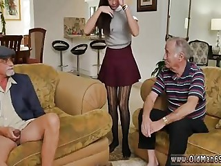Old ebony and vs young threesome xxx Riding the Old Wood!