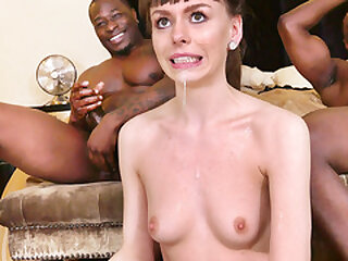 Babysitter Alex Blake Takes Care Of Big Black Cocks