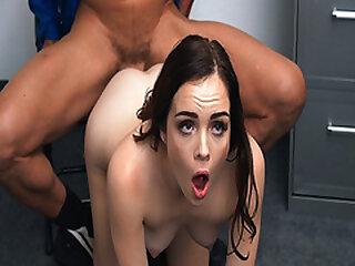 Aliya Brynn gasps as she gets banged so hard from behind