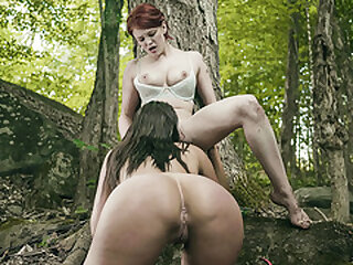Mysterious lesbian babe fucks with scientists