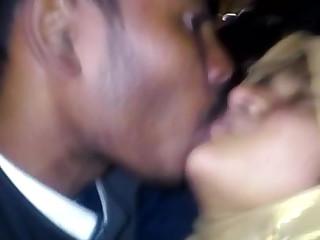 Bangla girl kisses her boyfriend