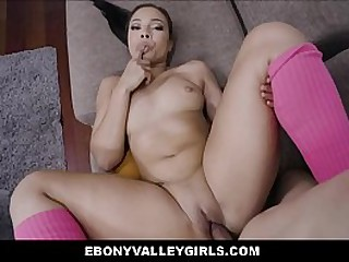 Thick Big Ass Wealthy Black Ebony Teen Fucked To Orgasm By Latino Neighbor POV