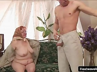 Hey My Grandma is a Whore #18 - Dominika - Elderly lady with red hair and a very wet and ready pussy loves fuck with younger neighbor