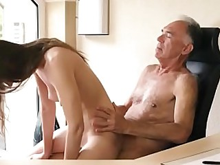 18 year girl fucked hard by old guy