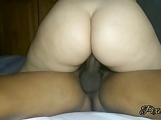 18 year old girl has multiple orgasms when she rides a thick black cock