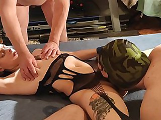 Master sold his sub girlfriend for a raw gangbang party HD