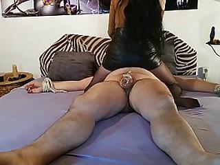 Beautiful slim mistress s. he blindfolded slave pt1 HD