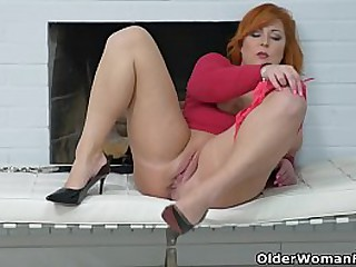 Full figured mature redhead Kathy gladly shares her hard nippled boobs and shaven pussy with you (now available in Full HD 1080P). Bonus video: European milf Alex.